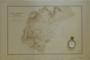 Ukraine / Russia. 1855. Bay of Alushta, Crimea; from the Survey by Captn. E. Manganari of the Russian Imperial Navy