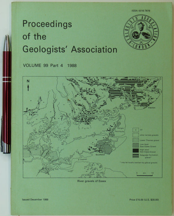 Gray, J.M. (ed). (1988).  Essex. PGA, v.99, pt.4, pp.249-341.  Five papers on the geology of Essex.