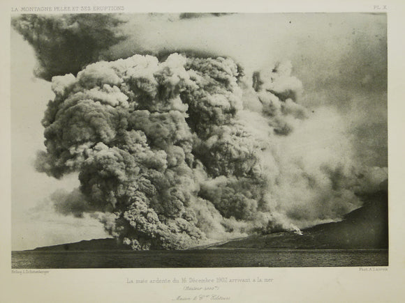 Caribbean, Martinique. 1902. Mt. Pelee eruption photograph