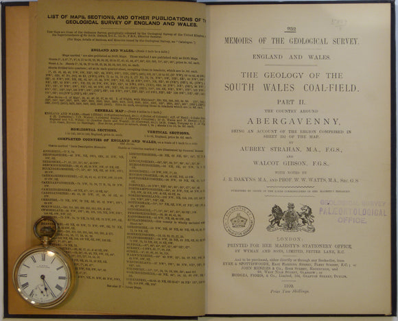 Sheet Memoir 232. Abergavenny (Geology of the South Wales Coalfield, part II), by Strahan, A et al, 1900. First edition.