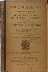 Sheet Memoir 248. Pontypridd and Maes-têg. (Geology of the South Wales Coalfield, part IV), by Strahan, A et al, 1917. Second edition.
