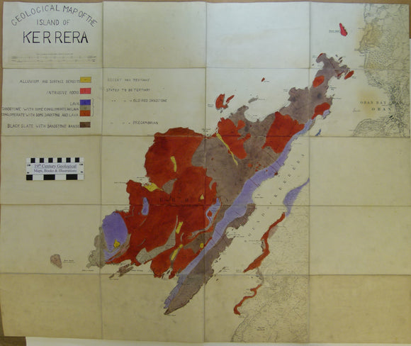 Kerrara, Geological Map of the Island of. 1900-1939. Manuscript map by W S Henn Collins.