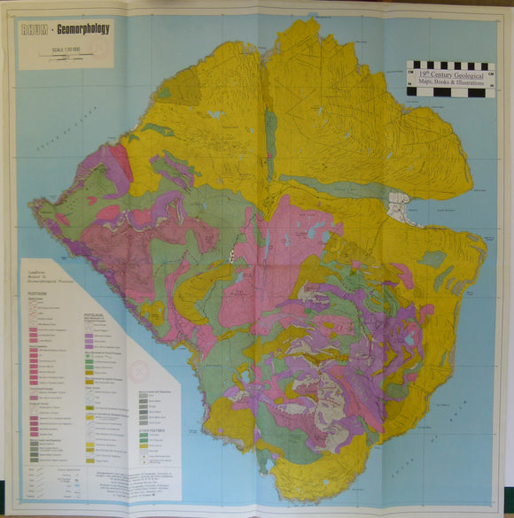 Rhum. Geomorphology. 1975. University of Glasgow. Scale 1:20,000.