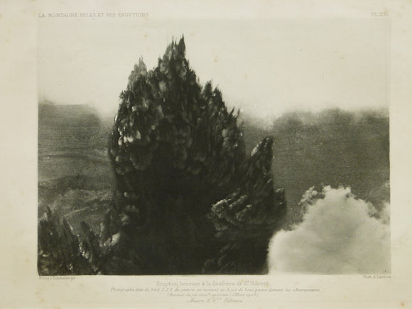 Caribbean, St. Vincent. 1903. Mud volcano photograph