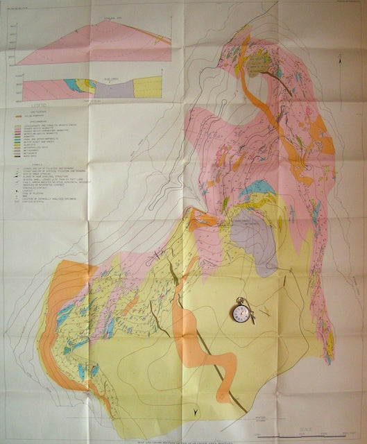 Map and Sections of the Quad Creek Area, Montana