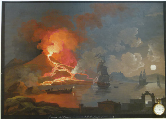 Vesuvius. 1805. Painting in body colour, 49.5 x 70cm, on cartridge paper.