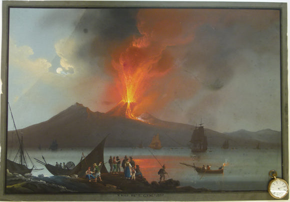 Vesuvius. 1839. Painting in body colour, 49 x 70.5cm, on cartridge paper.