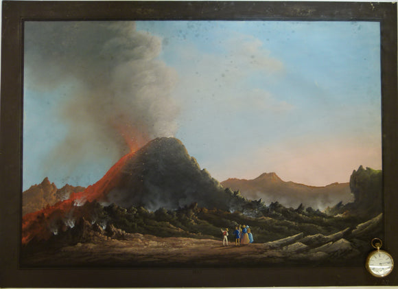 Vesuvius. 1847. Painting in body colour, 51.5 x 72cm, on cartridge paper