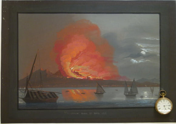 Vesuvius. 1866. Painting in body colour, 33 x 46cm, on cartridge paper.