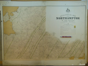 Western Australia, Geological Map of Northampton, 1898. By Gov't geologist, A.Gibb Maitland. 1:15,840