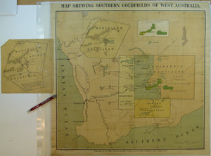 Western Australia, Map Shewing Southern Goldfields of West Australia, 1895.