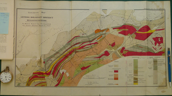 Wales North 1920. Geological Map of Arthog-Dolgelley District Merionethshire