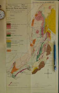 Wales North 1932. Geological Map of the country around Mynydd Rhiw and Sarn (South-west Carnarvonshire), colour