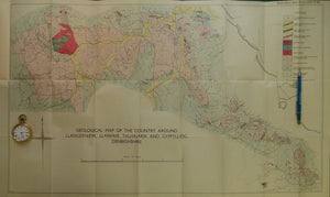 Wales North 1936. Geological Map of the Country around Llangerniew, Llanfair, Talhaiarn and Gyeeylliog, Denbighshire, colour