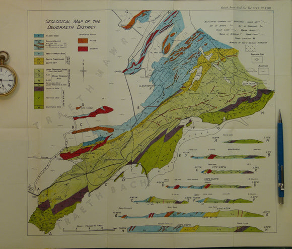Wales North 1943. <em>Geological Map of the Deudraeth District</em>, colour