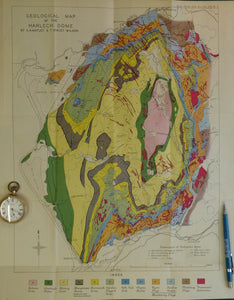 Wales North 1946. Geological Map of the Harlech Dome, colour – 19th ...