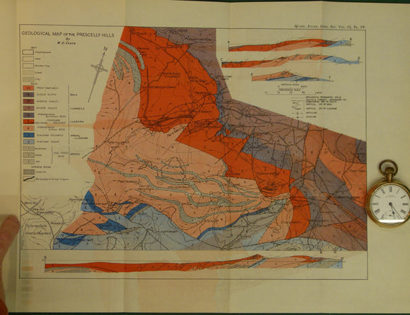 Wales South 1944. Geological Map of the Prescelly Hills, North Pembrokeshire, colour