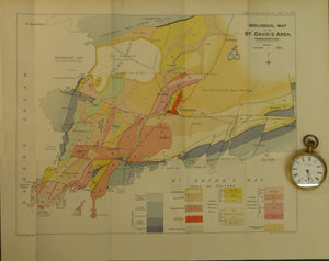 Wales South 1908. Geological Map of the St David's Area, Pembrokeshire, colour