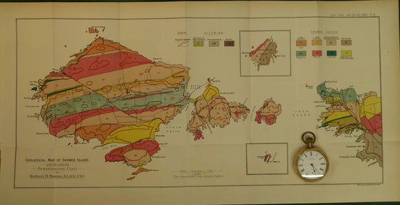 Wales South 1911. Geological Map of Skomer Island and the adjacent Pembrokeshire Coast, colour
