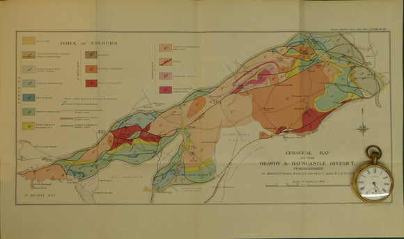 Wales South 1912. Geological Map of the Brawdy and Haycastle District, Pembrokeshire, colour