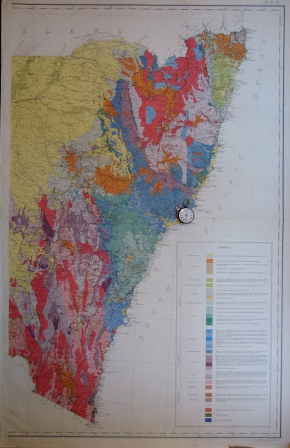 New South Wales, Geological Map of, 1914, scale 1