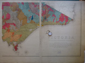 "Victoria, Geological Map of, 1902, scale 1""=8mi."