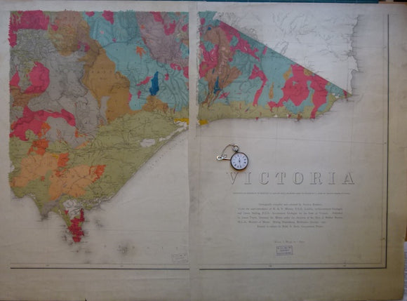 Victoria, Geological Map of, 1902, scale 1
