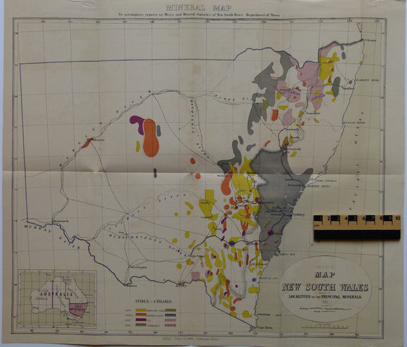 Sketch Map of New South Wales shewing the Localities of the Principal Minerals