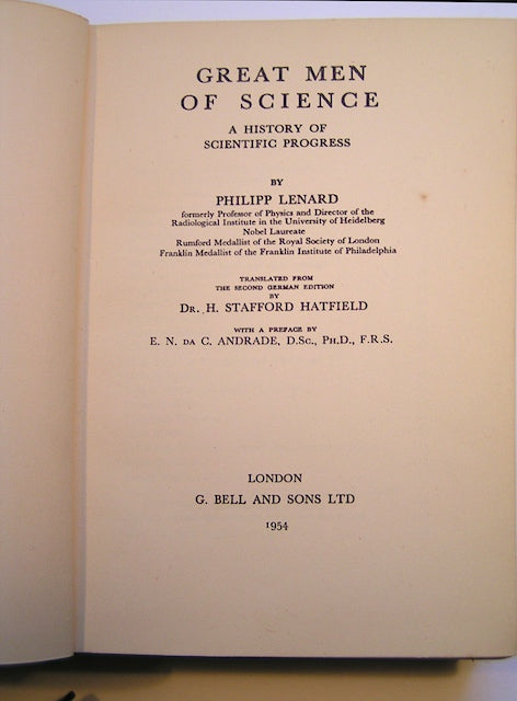 Great Men of Science; a History of Scientific Progress