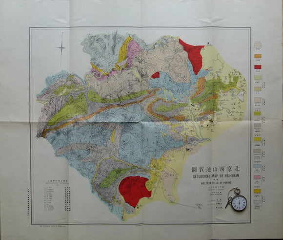 Geological Map of His-Shan, or the Western Hills of Peking,1919