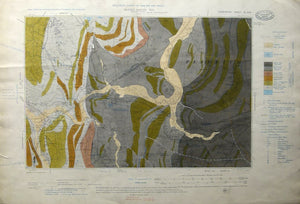"Derbyshire 40nw, 6"". Bullbridge, 1900/1910, black outline, blue geology."