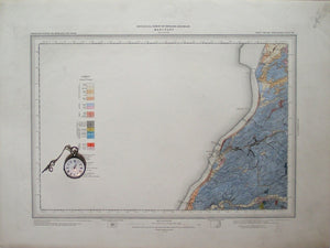 "Sheet 101nw drift, Old Series 1"". Cumberland: Maryport, 1895. 75% sea, key isea area."