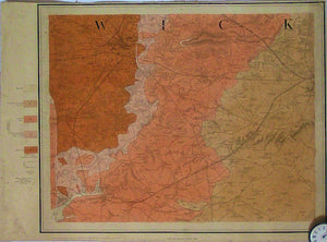 "Sheet  53nw, Old Series 1"".1855. First edition. Warwickshire: Warwick, Coventry. Hand coloured engraving,"