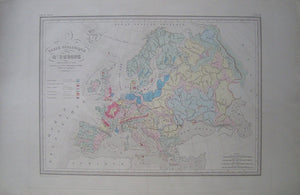 Carte Geologique d'Europe in Atlas de Geographie Universelle