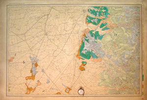 "Sheet 65 drift, Old Series 1"". Cambridgeshire Fens, Kings Lynn at north edge, Swaffham at east edge, Brandon at Scorner, 1886."