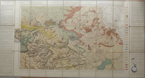 Sheet 4, Saint Omer, Carte Géologique Détaillée de la France, 1898. Scale 1:80,000.