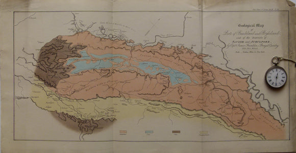 Geological Map of Parts of Bundeland and Bogheland and of the Districts of Saugor and Jubulpore