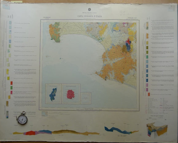 Piombino, sheet 127, Carta Geologicad'Italia, 1968