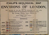 Philips' Geological Map of the Environs of London, extending to 20 miles round Charing Cross, showing the nature of the soil and the elevation of the land