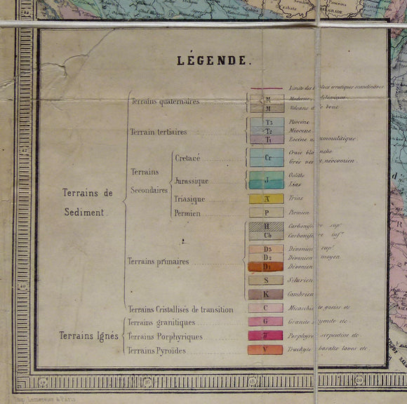 Carte Geologique de la Russi d'Europe, 1859