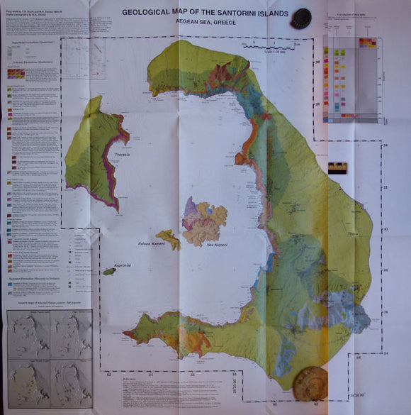 Geological Map of the Santorini Islands, 1999