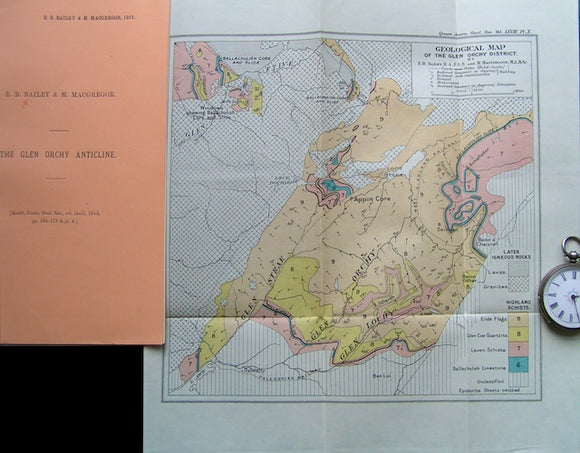 Geological Map of the Glen Orchy District, 1912