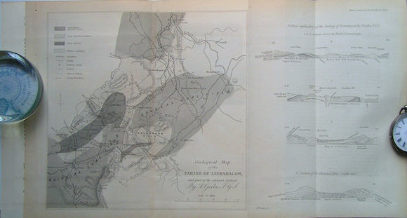 Geological Map of the Parish of Lesmahagow and part of the Adjacent District, 1860