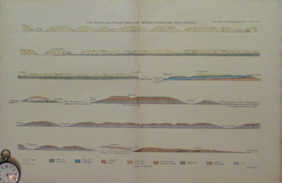 Coast Section from Fecamp (Dept of the Seine Inferieure) to Grand Camp, (Dept of Calvados),1821