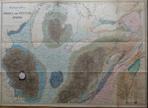 Geological Map of the Middle and Western States, 1843