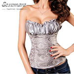 Plus Size S-6XL Body Shaper White Corselet Gothic Corsage Sexy Corpetes e Espartilhos Waist fashion Corsets Top CO18