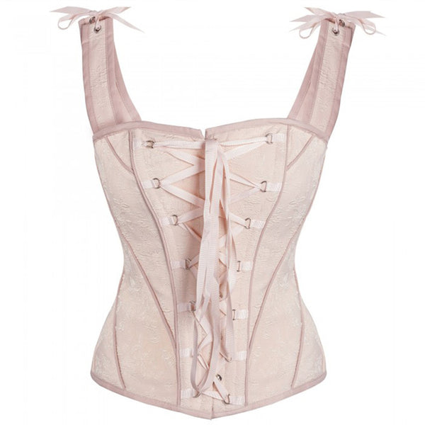 New Vintage Victorian Steampunk Corset 14 Steel Bones Cotton Overbust Corset Waist Trainer Corsets and Bustiers Corselet