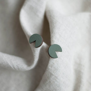 Minimal stud earrings | Cut out circle. Handmade in Slovenia.