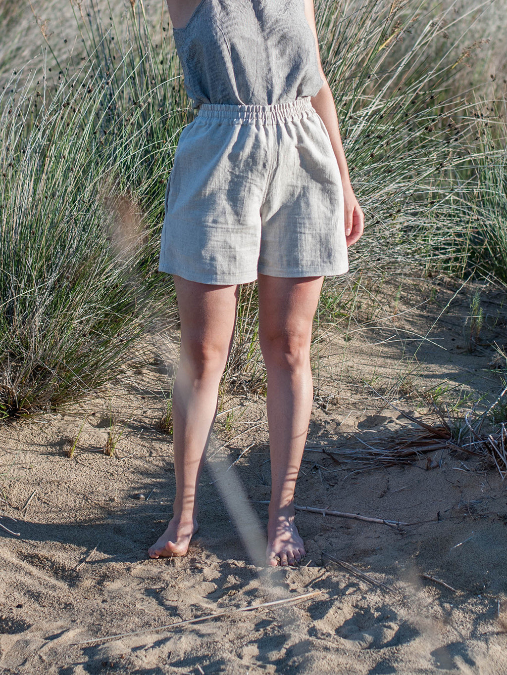 Linen short pants. Ethically made in Slovenia.
