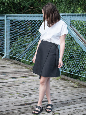 Wrap up mini skirt